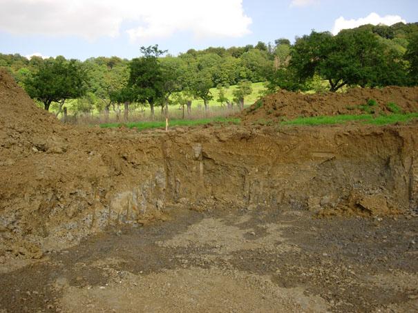 Terrassements for Etude de sol fondation
